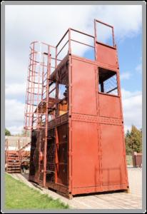 Тренажер для спасателей и пожарных «КУБ-3». Вид сбоку