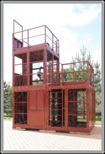 Тренажер для спасателей и пожарных «КУБ-3». Вид сзади