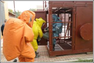 Отработка навыка эвакуации пострадавшего из аварийного помещения
