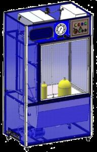 Установка для освидетельствования малолитражных баллонов от 1 до 12 литров