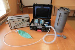 """Аппарат ИВЛ """"ГС-16"""" контрольные приборы для проверки параметров работы"""